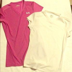 2 Underarmour shirts